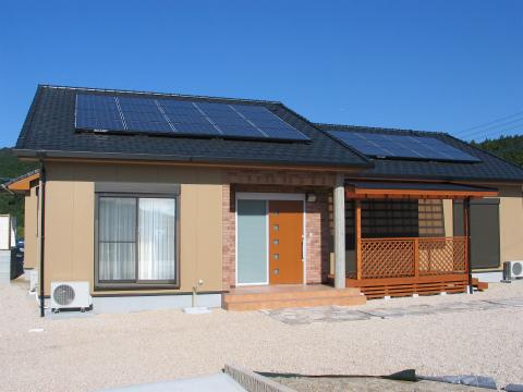 筑紫郡 新築住宅 外観(太陽光発電)