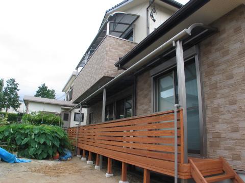 福岡市 新築住宅 ウッドデッキ