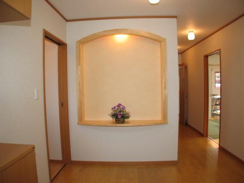 福岡市 新築住宅 玄関ホール飾棚