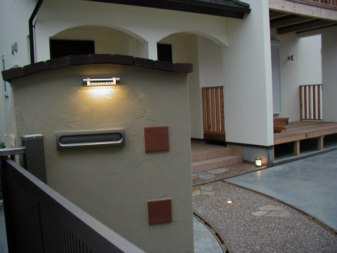 福岡市 新築住宅 門塀