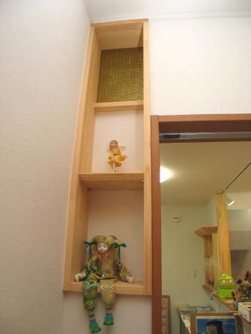 糸島市 新築住宅 ホール飾り棚