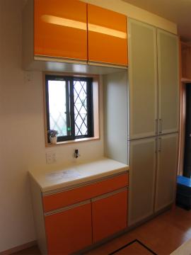 糸島市 新築住宅 キッチン背面収納