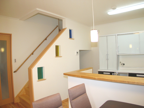 福岡市 新築住宅 リビング階段