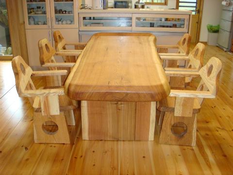 筑紫郡 新築住宅 手作りテーブル・椅子