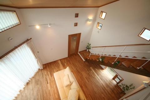 福岡市 新築住宅 2階から見下ろし