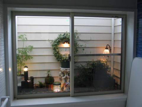 春日市 新築住宅 浴室ガーデン