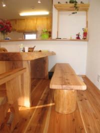 福岡市 新築住宅 造作テーブル&ベンチ