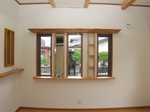 福岡市 新築住宅 スリット窓&飾棚