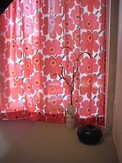 マリメッコのカーテン