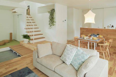 梅雨なのに、サラッとした空間で、快適に暮らす家